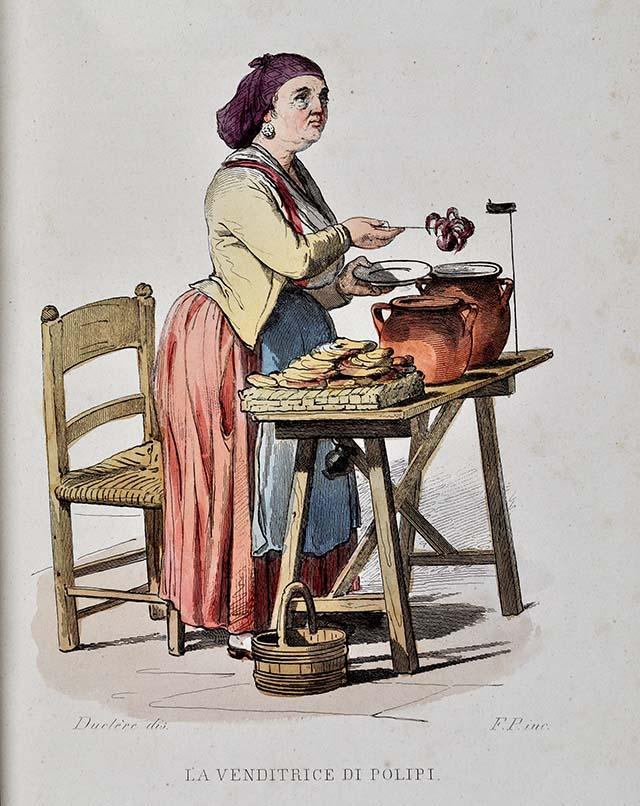 Napoli. Ritratto di pescatore intento a realizzare ceste, albumina, 1880 ca.(SNSP, Album D'Amato)